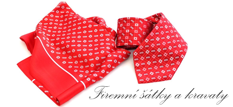 Firemní šátky a kravaty